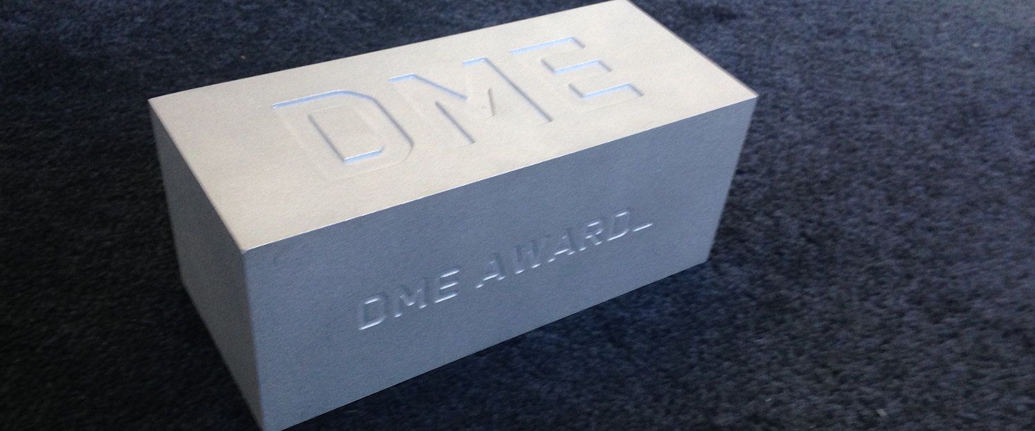 DME Award 2010 trophy